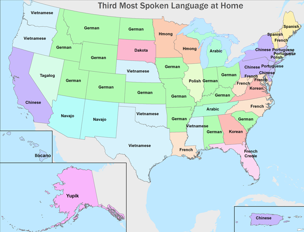 These Incredible Maps Illustrate Our Immigrant Heritage - Us language map