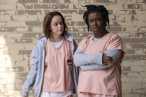 "Taryn Manning and Uzo Aduba in ""Orange Is the New Black"""